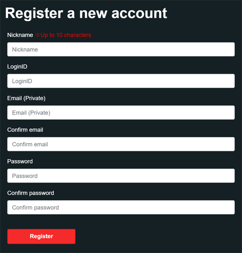 input register